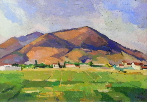Quadro di Rodolfo Marma Paesaggio a Novoli - olio tela