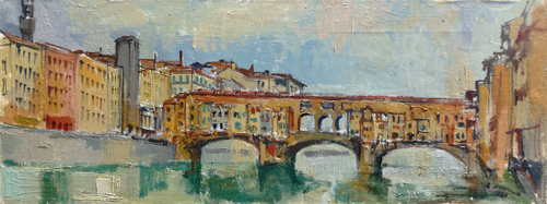 Art work by Rodolfo Marma Ponte Vecchio - oil canvas