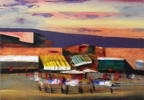 Quadro di Salvatore Magazzini Marrakech - olio tavola