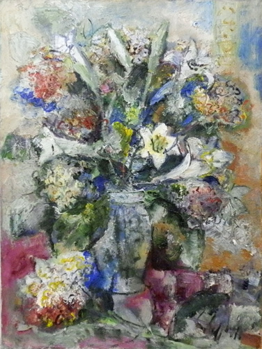 Art work by Emanuele Cappello Vaso con fiori - oil canvas