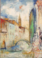 Work of Emanuele Cappello - Canale,Venezia oil canvas