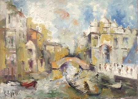 Quadro di Emanuele Cappello Canale,Venezia - olio tela