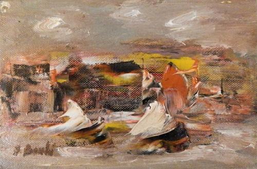 Quadro di Deanna Borchi Paesaggio marino - olio cartone telato