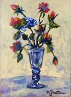 Quadro di Luigi Pignataro - Vaso di fiori olio tela