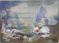 Quadro di Silvio Polloni - Marina olio cartone