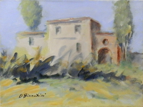 Quadro di Umberto Bianchini Paesaggio - mista tela