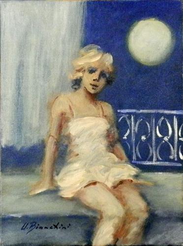 Quadro di Umberto Bianchini Luna piena, olio su tela 40 x 30 | FirenzeArt Galleria d'arte