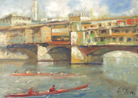 Work of Emanuele Cappello - Ponte Vecchio oil canvas