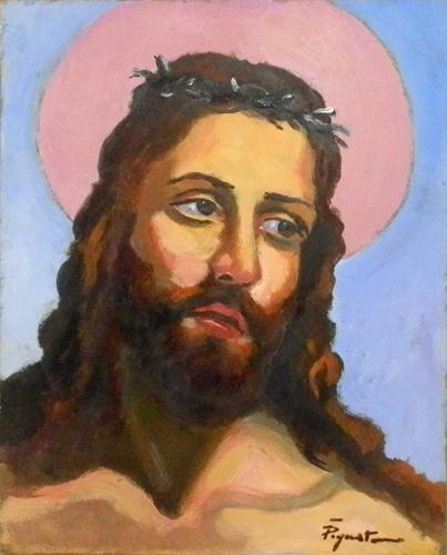 Quadro di Luigi Pignataro Gesù - olio faesite