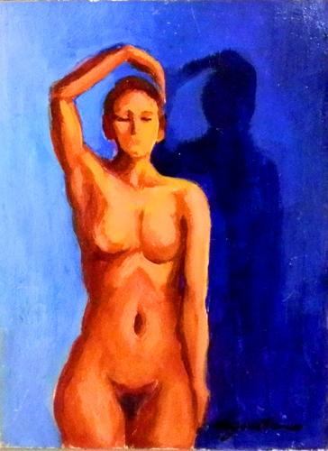 Quadro di Luigi Pignataro Nudo - olio cartone