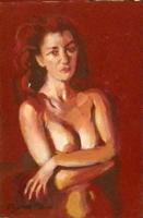 Quadro di Luigi Pignataro - Nudo olio tavola