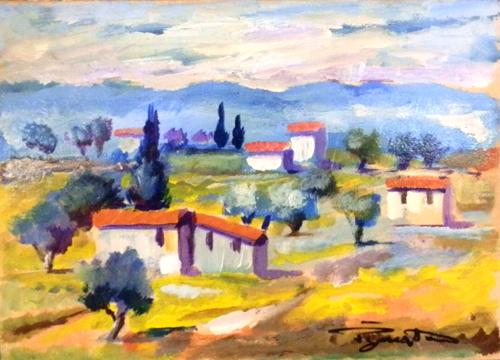 Artwork by Luigi Pignataro, oil on cardboard | Italian Painters FirenzeArt gallery italian painters
