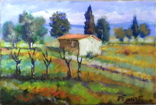 Artwork by Luigi Pignataro, oil on hardboard | Italian Painters FirenzeArt gallery italian painters