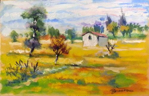Art work by Luigi Pignataro Paesaggio - oil table