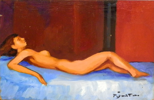 Quadro di Luigi Pignataro Nudo - olio tavola