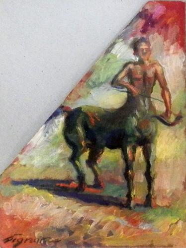 Quadro di Luigi Pignataro Centauro - olio tavola