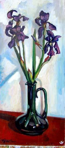 Quadro di Luigi Pignataro Vaso con fiori - olio faesite