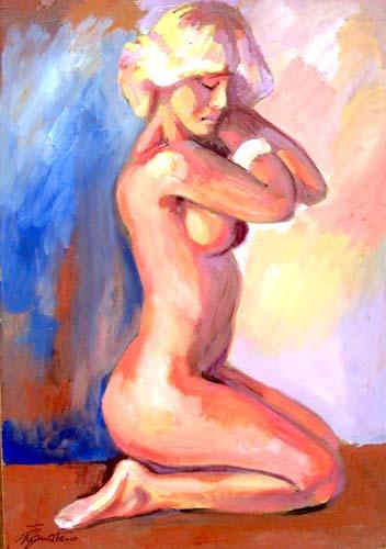 Quadro di Luigi Pignataro Nudo - tempera faesite