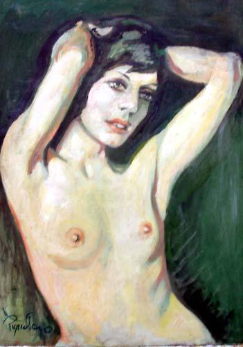 Quadro di Luigi Pignataro Nudo - olio faesite