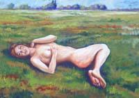 Work of Luigi Pignataro  Nudo sul prato
