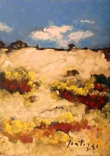 Quadro di Sergio Scatizzi Paesaggio, olio su carta 48 x 34 | FirenzeArt Galleria d'arte