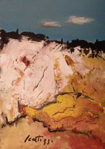 Quadro di Sergio Scatizzi Paesaggio, olio su carta 50 x 35 | FirenzeArt Galleria d'arte