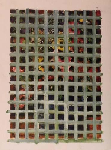 Quadro di Luigi Pignataro Scomposizione - olio cartone