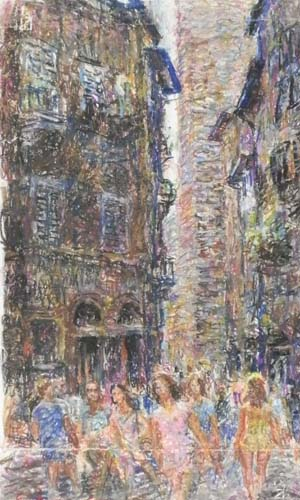 Quadro di Guido Borgianni Strada - pastello cartone
