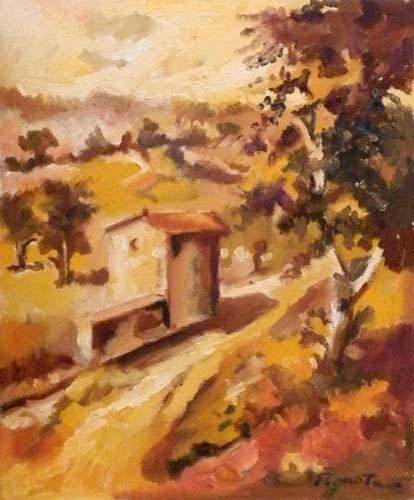Art work by Luigi Pignataro Paesaggio - oil canvas cardboard