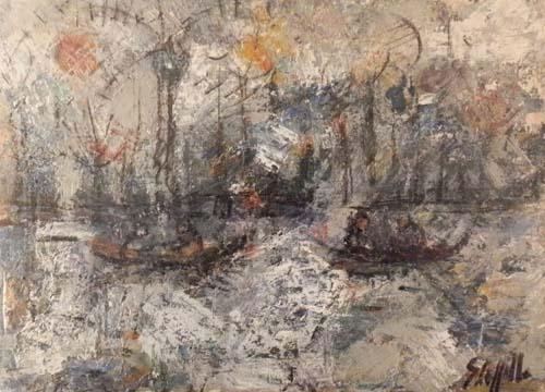 Art work by Emanuele Cappello Venezia - oil table