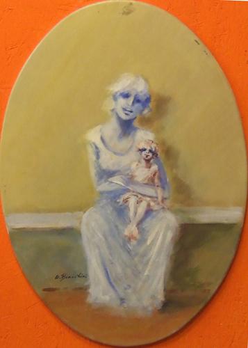 Quadro di Umberto Bianchini Maternità - mista tela