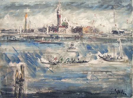 Art work by Emanuele Cappello Venezia - oil canvas