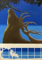Quadro di Gianni Oliveti  Figura di cervo