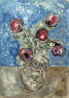 Quadro di Sandro Santini - Vaso di fiori olio tela