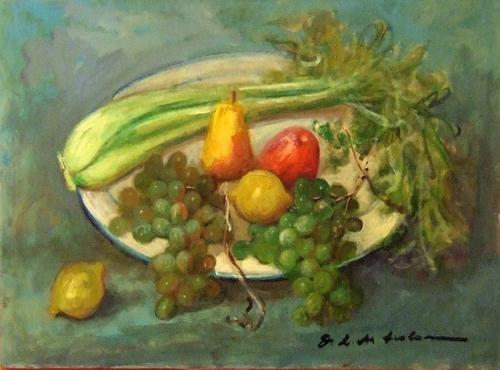 Art work by  Copie d'Autore Natura morta (Osman Lorenzo De Scolari) - oil canvas