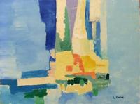 Quadro di Liù Venturi - Paesaggio informale olio tela