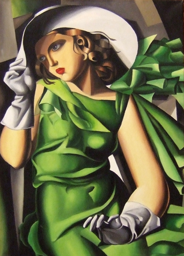 Art work by  Copie D'Autore Figura (Tamara de Lempicka) - oil canvas