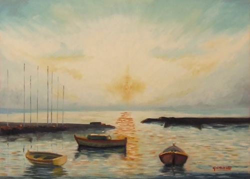 Art work by G. Calvino Marina - oil canvas