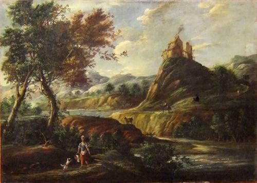 Quadro di  Antiquariato Paesaggio - olio tela