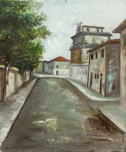 Quadro di  Anonimo Paesaggio - olio tela