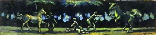 Quadro di Luigi Pignataro Composizione - olio tavola
