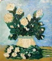 Quadro di A. Nastasi - Vaso di fiori olio faesite