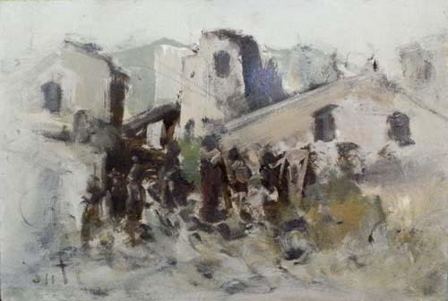 Quadro di Alvaro Danti Paesaggio - olio faesite
