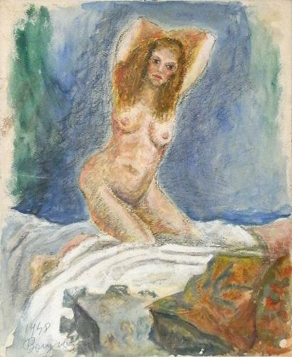 Quadro di Guido Borgianni Nudo - mista carta