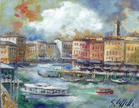 Quadro di Emanuele Cappello Venezia - olio tela