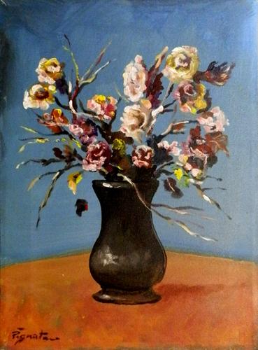 Quadro di Luigi Pignataro Vaso di fiori - olio tela
