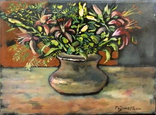 Art work by Luigi Pignataro Fiori - oil canvas