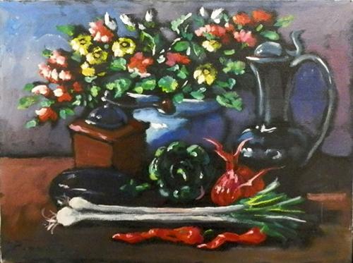 Art work by Luigi Pignataro Composizione - oil canvas