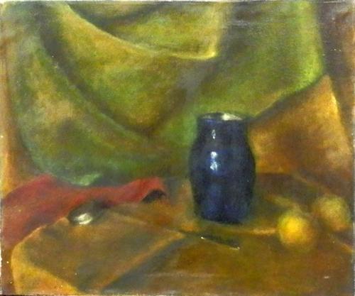 Quadro di BK. Gatkowska Composizione - olio tela