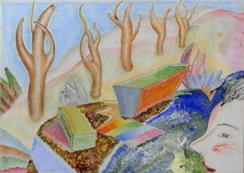 Quadro di Luca Alinari Paesaggio - olio tela